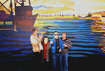 MBPAF board members infront of Jeff O'Dells mural